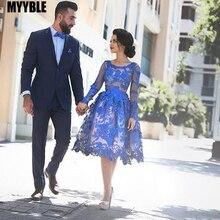 MYYBLE Royal Blue 2020 cheap Elegant Cocktail Dresses A-line