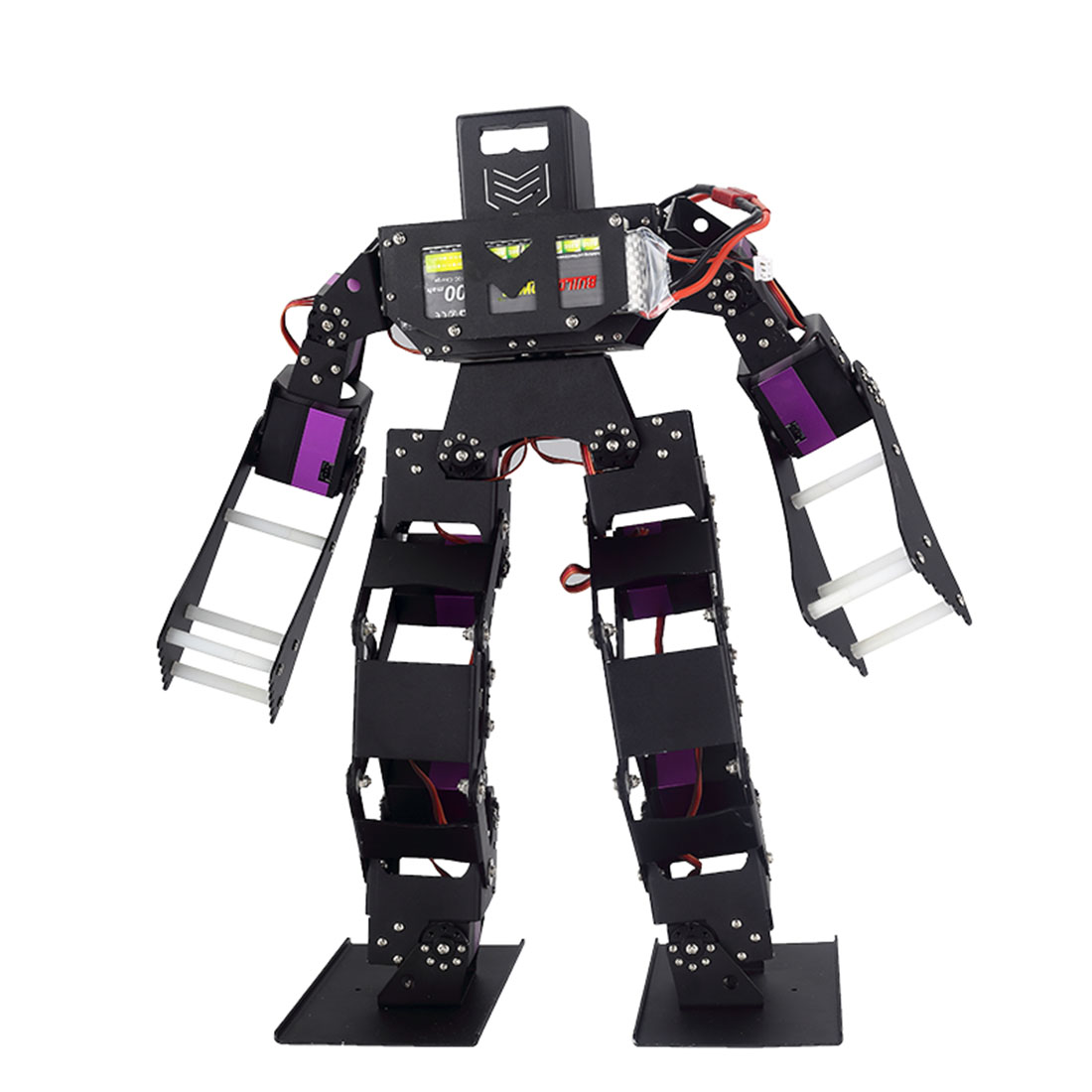Programmable Biped Robot Boxing Competition Robot High Tech Toy DIY Stem Robot Compatible with Arduino / Microbit / STM32 / 51 1