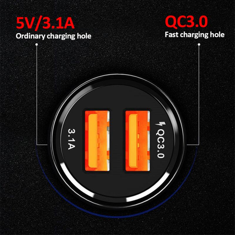 New Car Charger Dual Port QC3.0 Qualcomm Fast Charge 39W Car Charger Dual USB Fast Charge 6A For Mobile Tablets Dropshipping Pakistan