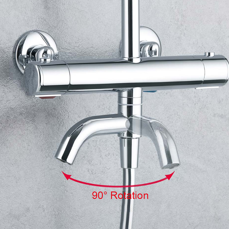Image 3 - Diiib dabai Home Safe Thermostatic Handheld Shower Head Set Stainless Steel 6 Modes Faucet Shower Hose Lifting Rod From xiaomiShower System   -