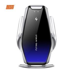 Image 5 - 15W Qi Drahtlose Auto Ladegerät Automatische Spann Schnelle Lade Drahtlose Ladegerät Auto Air Vent Halterung Telefon halter Für Smart telefon