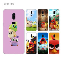 Uyellow The Angry Bird Silicone Soft Case For One Plus 7 Pro 6 6T 5 5T Fashion Fundas Printed Cover Luxury Phone Coque TPU Shell uyellow star wars watercolor soft tpu case for one plus 7 pro 6 6t 5 5t fashion fundas printed cover silicone luxury phone coque