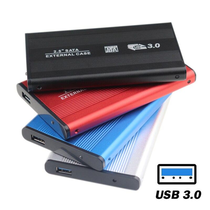 Алюминий 2,5 дюймов SATA III для USB 3,0 5 Гбит/с внешний корпус для жесткого диска жесткий диск чехол SSD коробка Поддержка Hot Plug для Windows, Mac