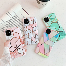 Para iPhone 11 6,1 pulgadas 2019 de mármol funda de silicona para iPhone Caso 11 Pro Max 8 7 6 6s XR X XS X Max Plus