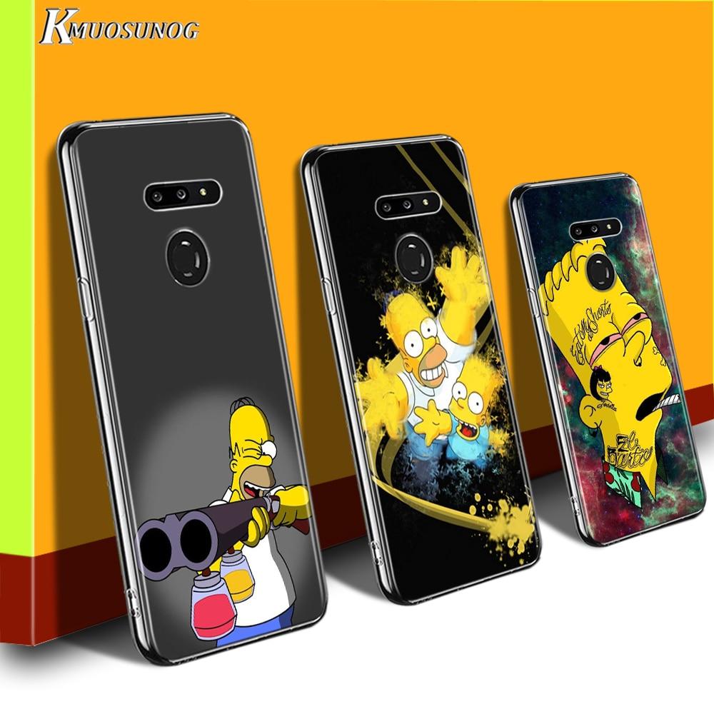 Anime The Simpsons For LG W20 W10 V50S V50 V40 V30 K50S K40S K30 K20 Q60 Q8 Q7 Q6 G8 G7 G6 Thinq Phone Case