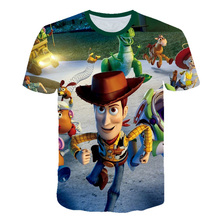 2019 New movie Toy Story 4 3D Printed Children T-shirt funny Short Sleeve Baby kids Cartoon T shirt
