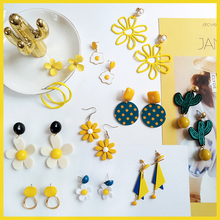 32 Styles Korean Earrings New Fashion Simple Plant Flower Acetic Acid Geometric Long Drop Circle Sweetl Jewelry Gifts