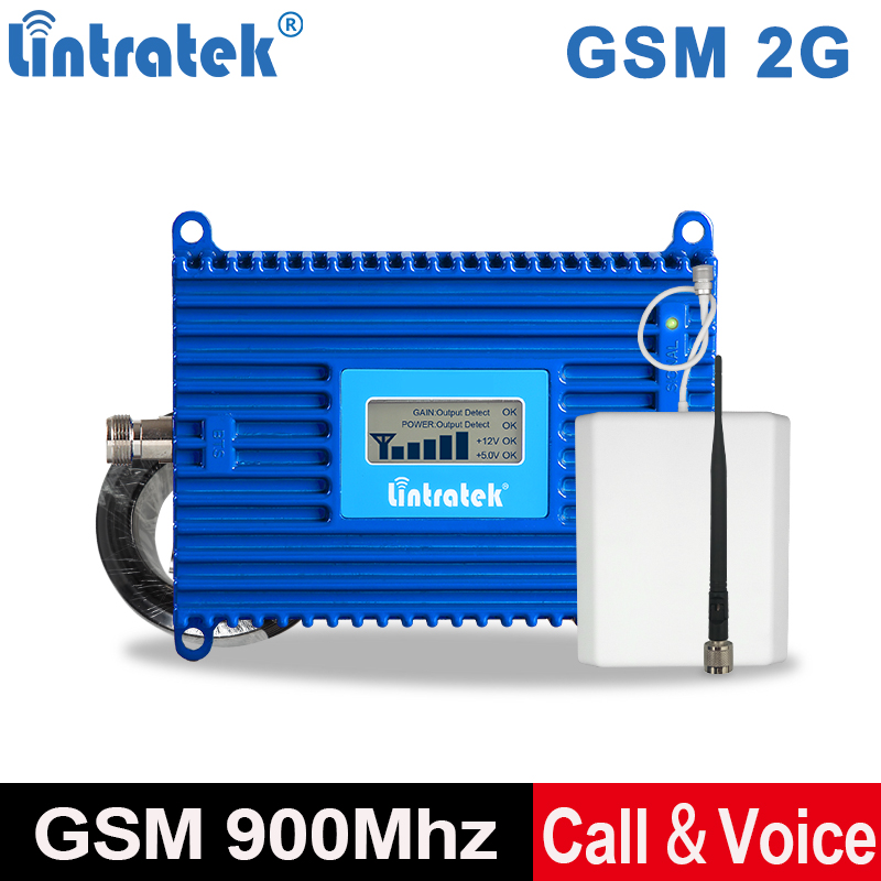 Lintratek 70dB 900 Cell Phone Repeater 2G GSM Voice Signal Booster AGC 900Mhz Call Mobile Phone Repeater/Amplifier Full Kit