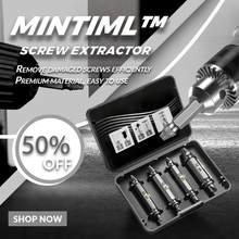4 pièces/ensemble Mintiml™Extracteur de vis endommagé, jeu de forets, Double tête, extracteur de goujon de boulon facile à sortir