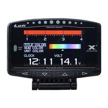 Lufi X1 OBD2 Car LED Multifuntion Gauge prędkościomierz Boost-Gauge termometr do wody powietrze/temperatura oleju opałowego temperatura spalin