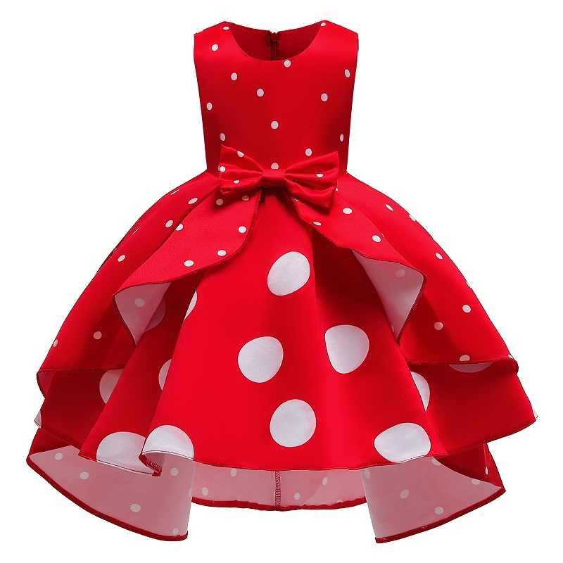 2019 Vestido De Navidad Niñas Polka Dot Vestidos Infantiles