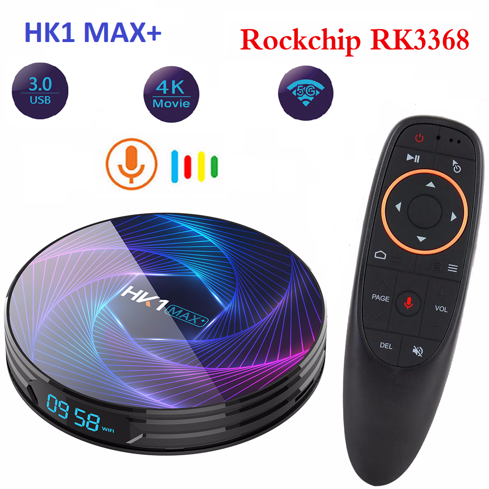 Skywoods HK1 MAX Plus Octa Core Android9.0 4GB 128GB 64GB 32GB RK3368PRO 1080P H.265 4K youtube Netflix HK1MAX Set Top Box