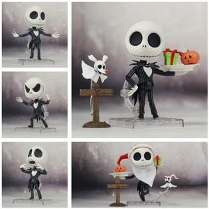 Image 1 - Le cauchemar avant noël Jack Skellington squelette 10cm mignon figurine avec casquette 1011 jouets poupée
