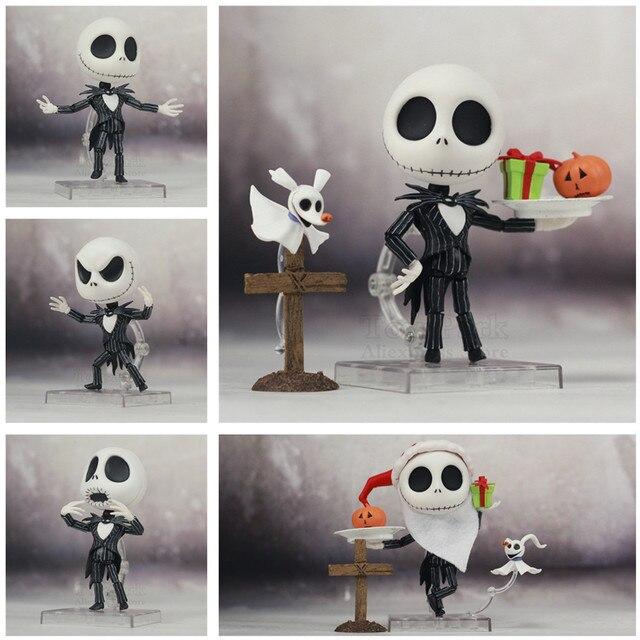 Le cauchemar avant noël Jack Skellington squelette 10cm mignon figurine avec casquette 1011 jouets poupée