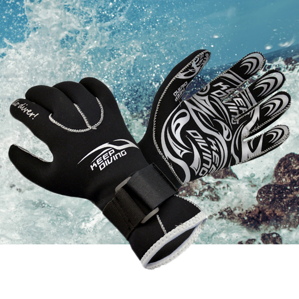 3MM Genuine Neoprene Gloves Anti Scratch And Keep Warm For Scuba Diving Winter Swim Spearfishing Kayaking Surfing