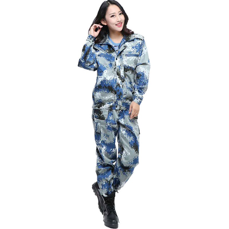 Image 4 - Jungle Camouflage Suit Mens Outdoor Training Uniforms Students Military Training Uniforms Special Mens Wear Labor InsuranceSafety Clothing   -