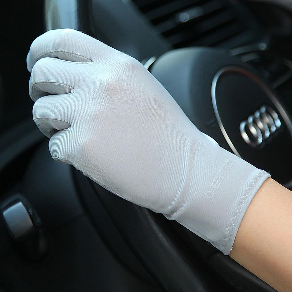 Ladies Ice Silk Sunscreen Gloves Thin Spring Autumn Non-Slip Breathable Summer Driving Gloves Female SZ036
