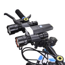 Professional Bike Bicycle Flashlight Holder Handle Bar Front Light Extender Mount Bracket Cycling Accessories Black(China)