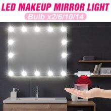 Зеркальный светильник комплект лампы usb 12v макияж лампа светодиодный