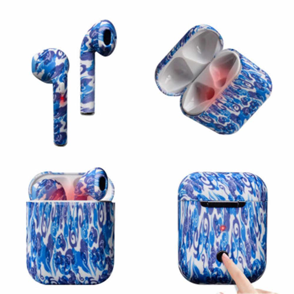 I9s Tws Mini oryginalne słuchawki bezprzewodowe bluetooth słuchawki kamuflaż kolorowe uszny słuchawki douszne z etui z funkcją ładowania dla telefonu komórkowego