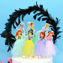Cupcake Toppers Cake-Supplies Frozen Birthday-Party-Decoration Princess-Theme Elsa Anniversaire