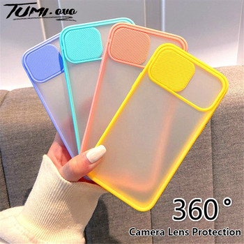 Camera Lens Protection Phone Case For iPhone SE 2020 Matte Soft Cases For iPhone 12 11 Pro Xs Max XR X 6 6S 7 8 Plus Back Cover image