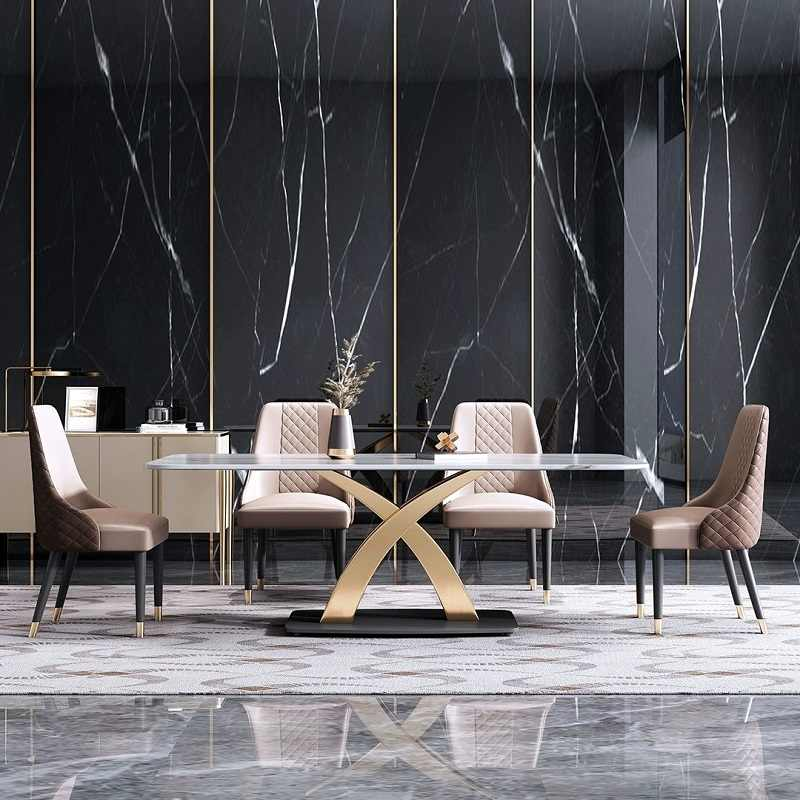 luxe table a manger moderne dessus