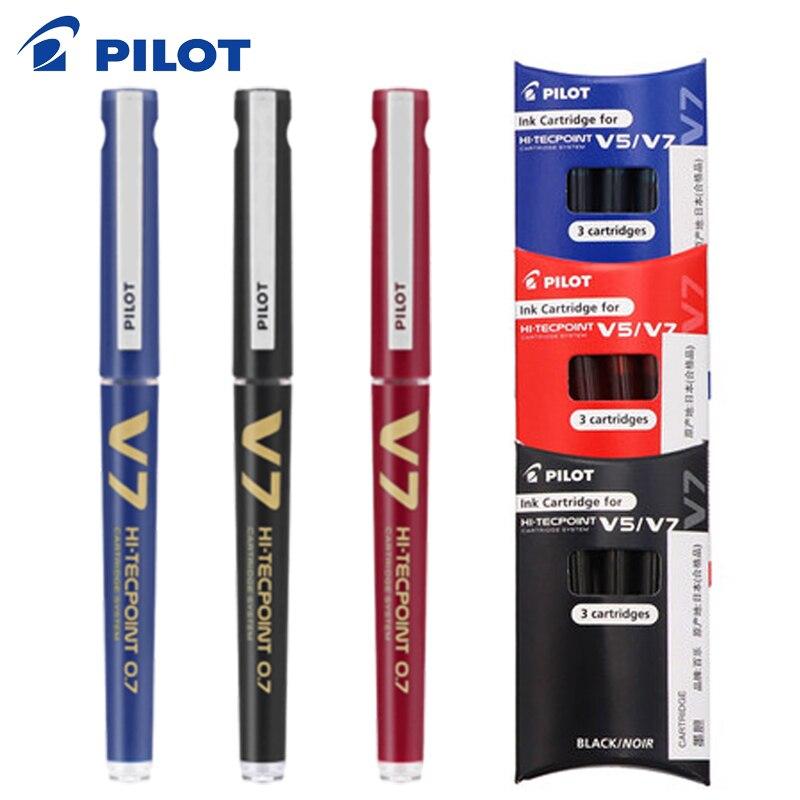 PILOT BXC-V7 Exchangeable Ink Gel Pen BX-V5/V7 Upgrade Version Large Capacity Student Office Signature Pen 0.7mm