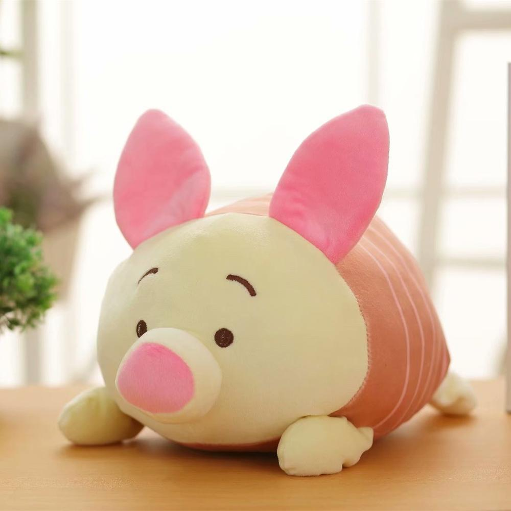 Cute Lying Sleeping Stitch Piglet Tigger Dumbo Marie Cat Plush Toy Pillow Stuffed Animals Birthday Gift 32cm