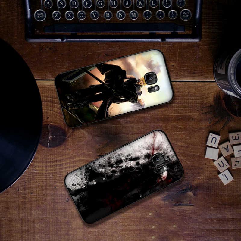 لينة سيليكون الهاتف حقيبة لهاتف سامسونج S6 S7 حافة S8 S9 S10 زائد ملاحظة 8 9 M10 20 30 لعبة الرسوم المتحركة الخيال Sephiroth