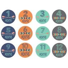 12 Uds pegatinas de meses accesorios de fotografía para bebé recién nacido mujer embarazada