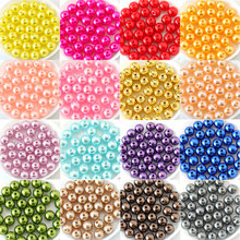 Many Colors ABS Imitation Pearls Round Beads With Holes DIY Bracelet Earrings Charms Sewing Beads Necklace Jewelry Making B3625