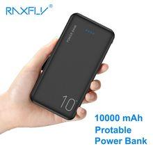 RAXFLY 10000mAh Power Bank Portable Charging Powerbank 10000 mAh External Battery For Xiaomi Universal  Poverbank Phone USB