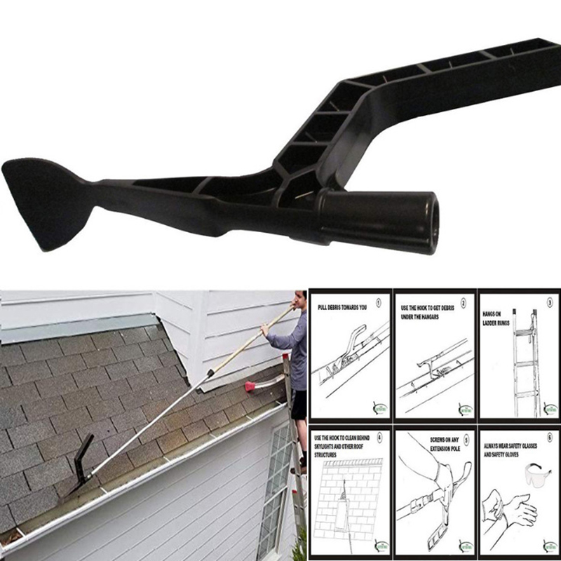 Gutter Cleaning Spoon With Unique Shaped Hook Scoop Hand Gutter Tool Farm Garden Gutter Skylights Roof Structure Cleaning Tools Brooms Dustpans Aliexpress