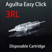 Needles Easy Click needle 3RL Disposable Cartridge eyebrow needle cartridge Permanent Tattoo Makeup Eyebrow Lip Round Liner