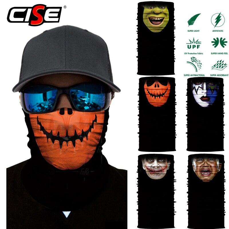 3D Mr Bean Seamless Balaclava Magic Face Mask Warmer Motorcycle Ski Tube Neck Gaiter Shield Durag Men Sport Bandana Sun