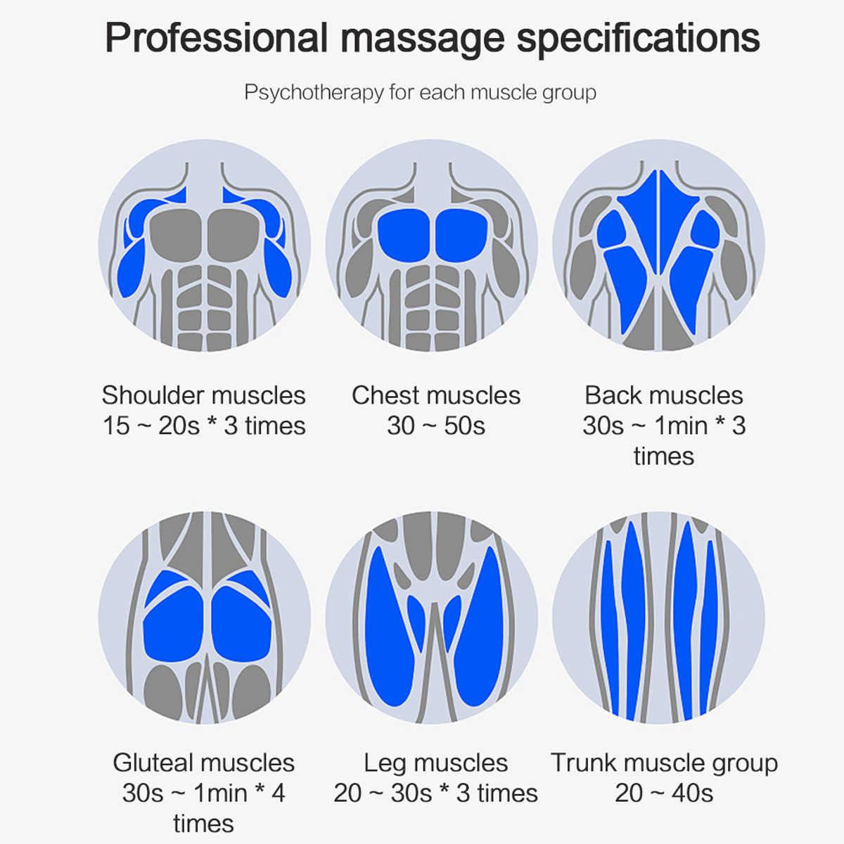 7200 r/min Terapia di Massaggio Pistola 5 Ingranaggi Muscolare Massaggiatore del Dolore di Sport Macchina di Massaggio Relax Corpo Dimagrante Sollievo 6 teste di Display LCD