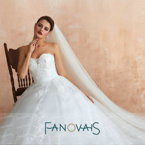 Image 5 - סטרפלס תחרה חתונה שמלות 2019 Vintage קו כלה שמלת Vestido דה novia gelinlik Robe דה Mariee