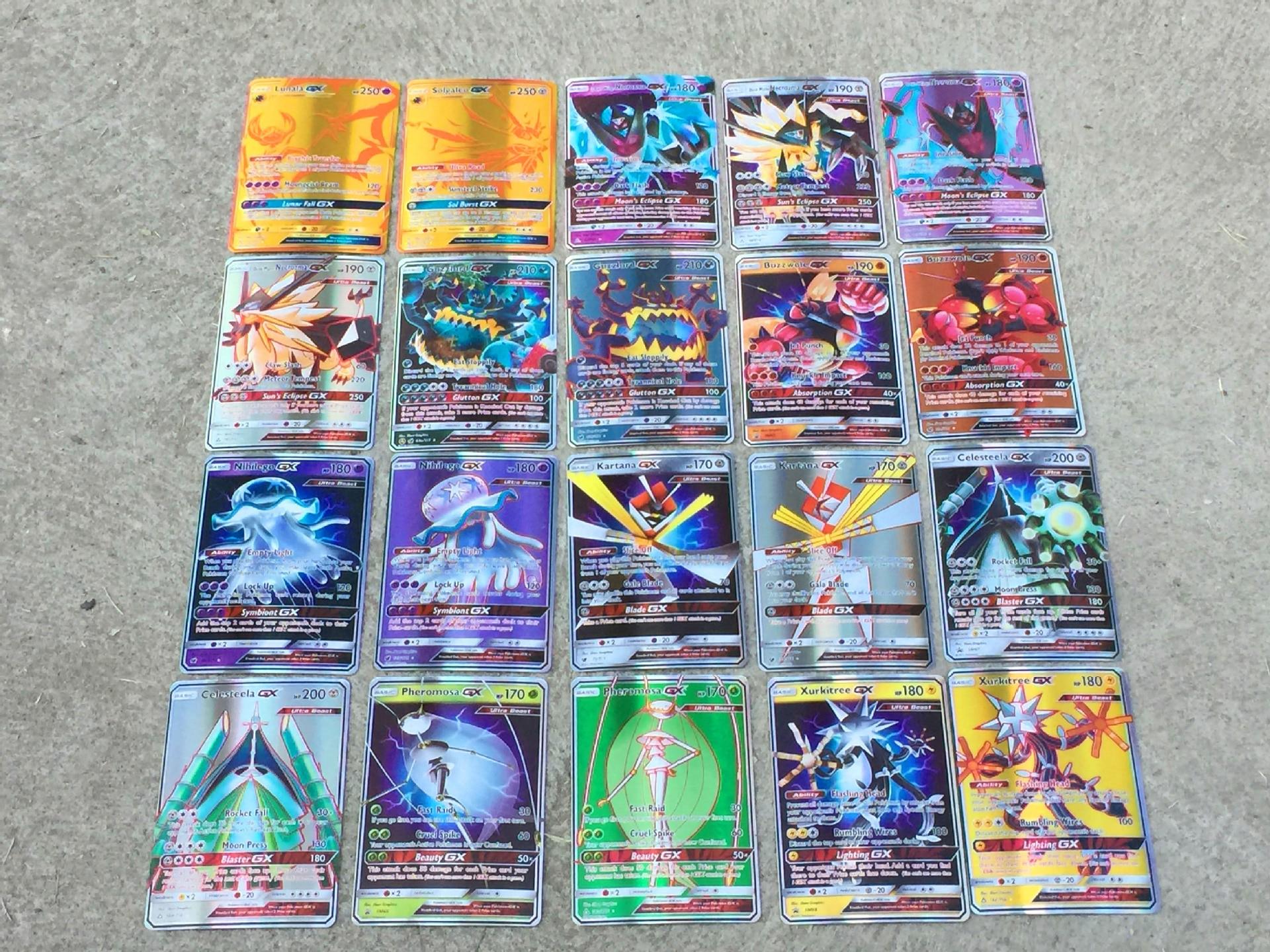 TAKARA TOMY 25  50 Stuks GX MEGA Shining Kaarten Game Battle Carte Trading Pokemon Cards Kinderen Speelgoed