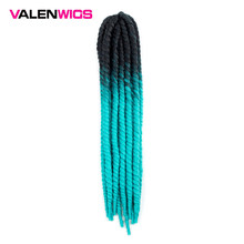 Valenwigs Crochet Hair Havana Mambo Twist Crochet Braid 22 Inch 100g Ombre Color Synthetic Fiber braiding hair For Afro Women valenwigs crochet braid havana mambo twist crochet hair 22 inch 100g piano color synthetic fiber braiding hair for afro women