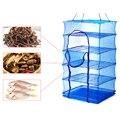 Складной 4 слоя сушки рыболовная сеть подвесная рыбы, овощей посуды сушилка PE вешалка рыба Рыболовная сеть рыболовные принадлежности