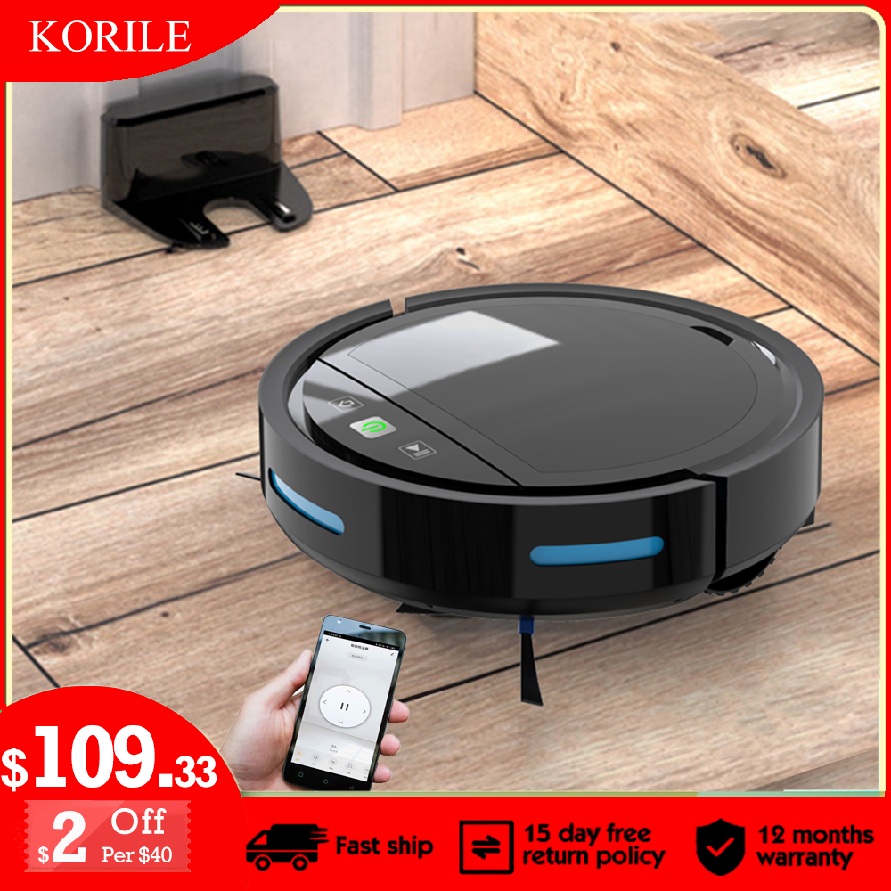 Robot Vacuum Cleaner APP Remote Control 2500Pa Suction Low Noise 2000mAH Anti-Drop U-shape Path One-click Start Auto-charge