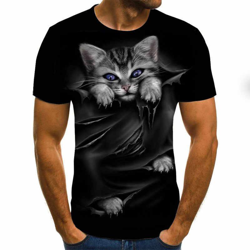 Camiseta de manga corta con estampado de animales de verano para hombre, camisetas divertidas para hombre, blusas, camisetas masculinas