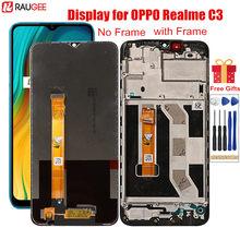 Lcd para realme c3 rmx2027 rmx2021 display lcd com quadro digitador da tela de toque substituição para oppo realme c3 c 3 6.5 polegada lcd