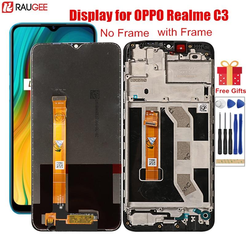 ЖК-дисплей для Realme C3 RMX2027 RMX2021 RMX2020, ЖК-дисплей с рамкой, дигитайзер, сенсорный экран для замены для OPPO Realme C3 C 3 6,5''