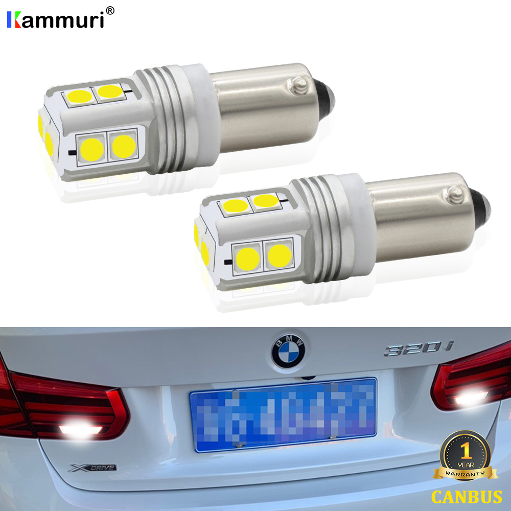 Xenon White 10-SMD Canbus <font><b>H21W</b></font> <font><b>BAY9S</b></font> <font><b>LED</b></font> Bulb For 2016-up BMW F30 3 Series 320i 328i 328d 330e 340i <font><b>LED</b></font> Backup Reverse Light image