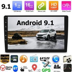 Navegación GPS, fabricación elaborada, larga duración, 10,1 pulgadas, Android 9,1, estéreo para coche, WiFi, Bluetooth, unidad frontal de Radio