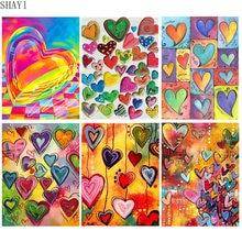 Алмазная живопись сердце искусство мозаика любовь своими руками