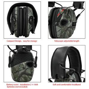 Image 3 - טבעות אוזן אלקטרונית טקטי אוזניות נגד רעש קול הגברה ירי ציד שמיעה הגנת מחממי אוזני מגן