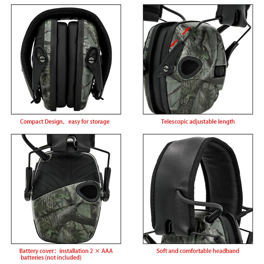Image 3 - Electronic Ear muff Tactical Headset Anti noise Sound Amplification Shooting Hunting Hearing protection Protective EarmuffsEar Protector   -